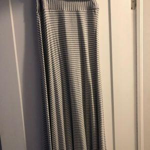 Gap fold over maxi skirt
